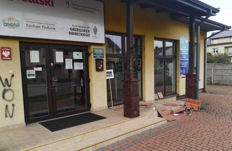 Atak na biuro parlamentarne PiS