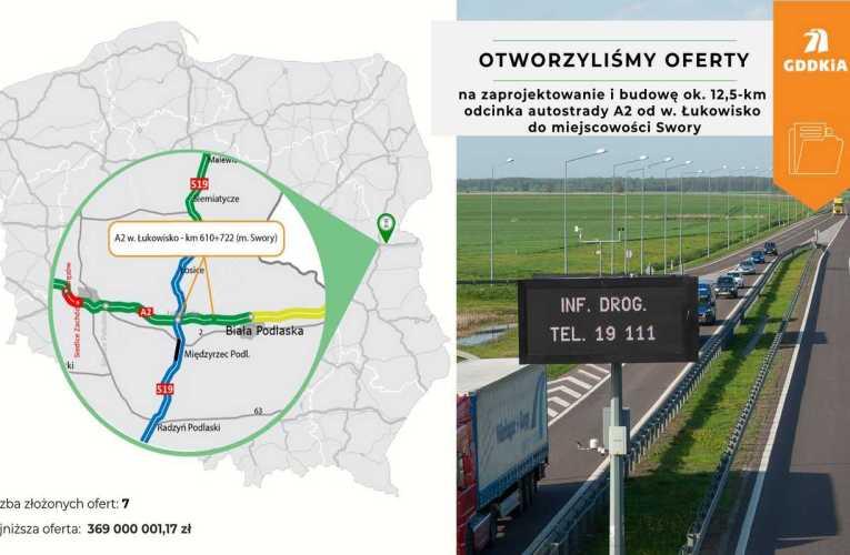 Znamy wykonawcę odcinka autostrady A2 pomiędzy węzłem Łukowisko a Sworami