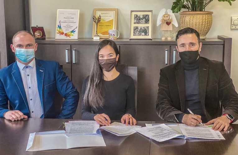 Podpisania umowy na wykonanie projektu mostu na Krznie