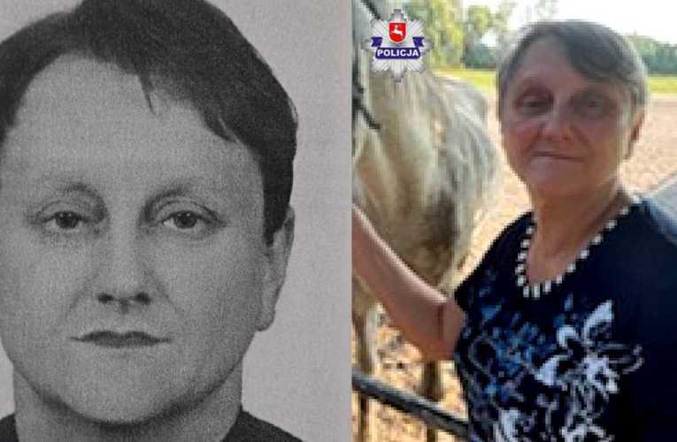 Policjanci poszukują zaginionej 58-latki
