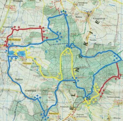 Warianty trasy trzeciego rajdu rowerowego