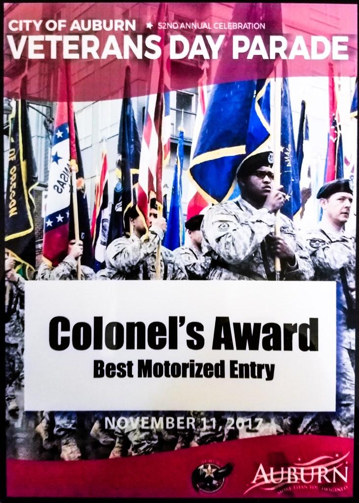 2017 Colonel's Award