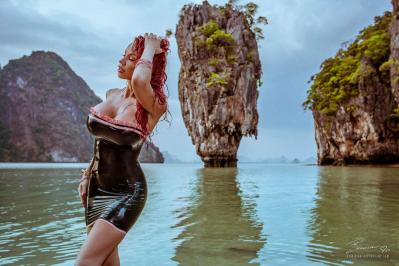Photographed at the iconic James Bond Island (The Man With The Golden Gun), in Thailand