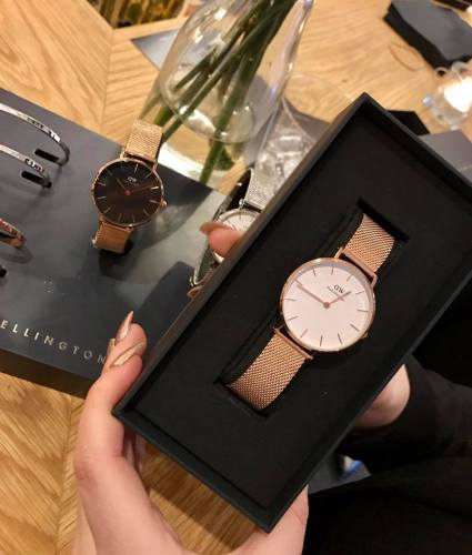 c363947129c The watch comes in four different styles including the Classic Petite 32mm  Melrose in Rose Gold with a black or white face and the 32mm Sterling with  a ...