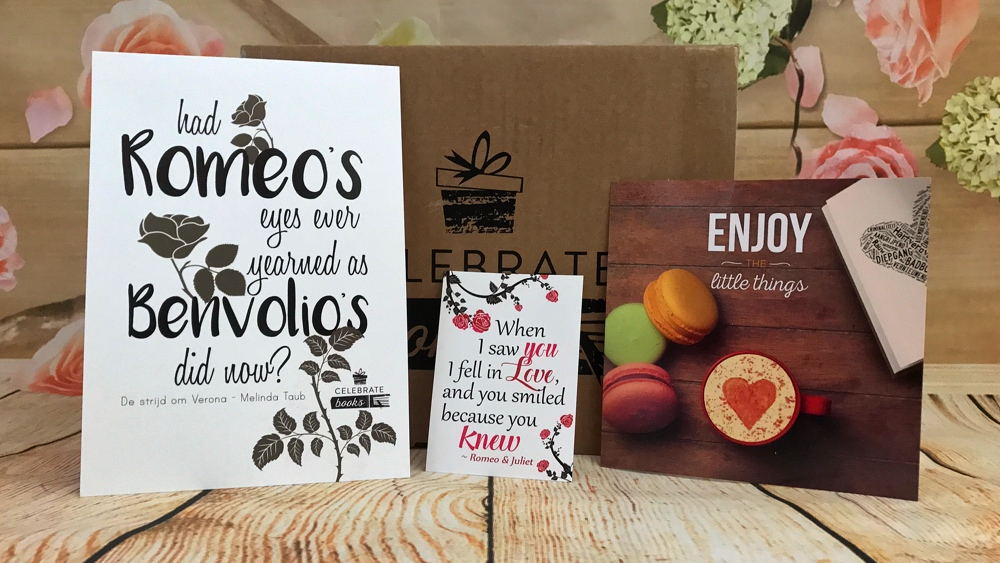 Quote kaarten uit celebrate books box
