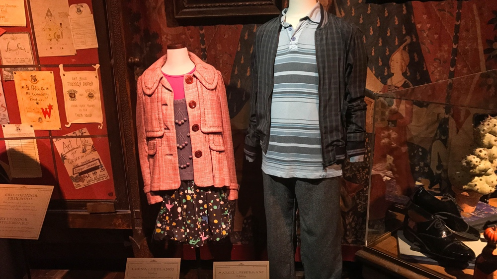 Marcel en Loena kleding Harry Potter Exhibition