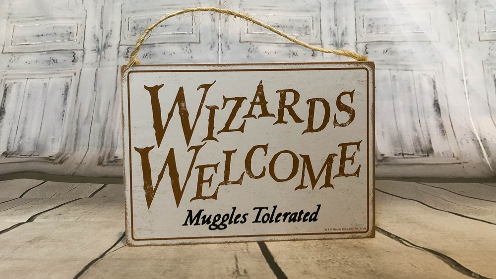 loot crate wizarding world box sign