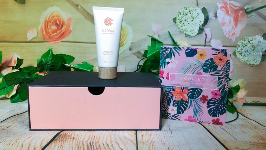 Naobay orange juice footcreme Goodiebox juli 2018