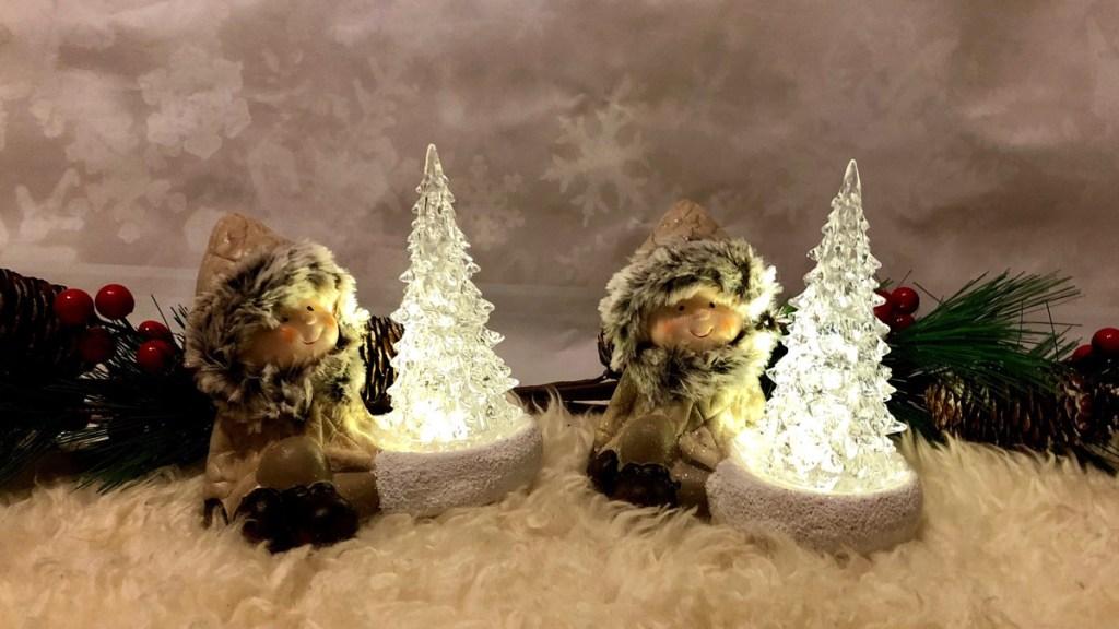 Action kerstspullen verlichte kerstboom