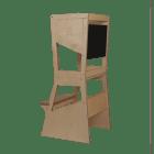 Learning Tower MOKA con lavagna - finitura trasparente