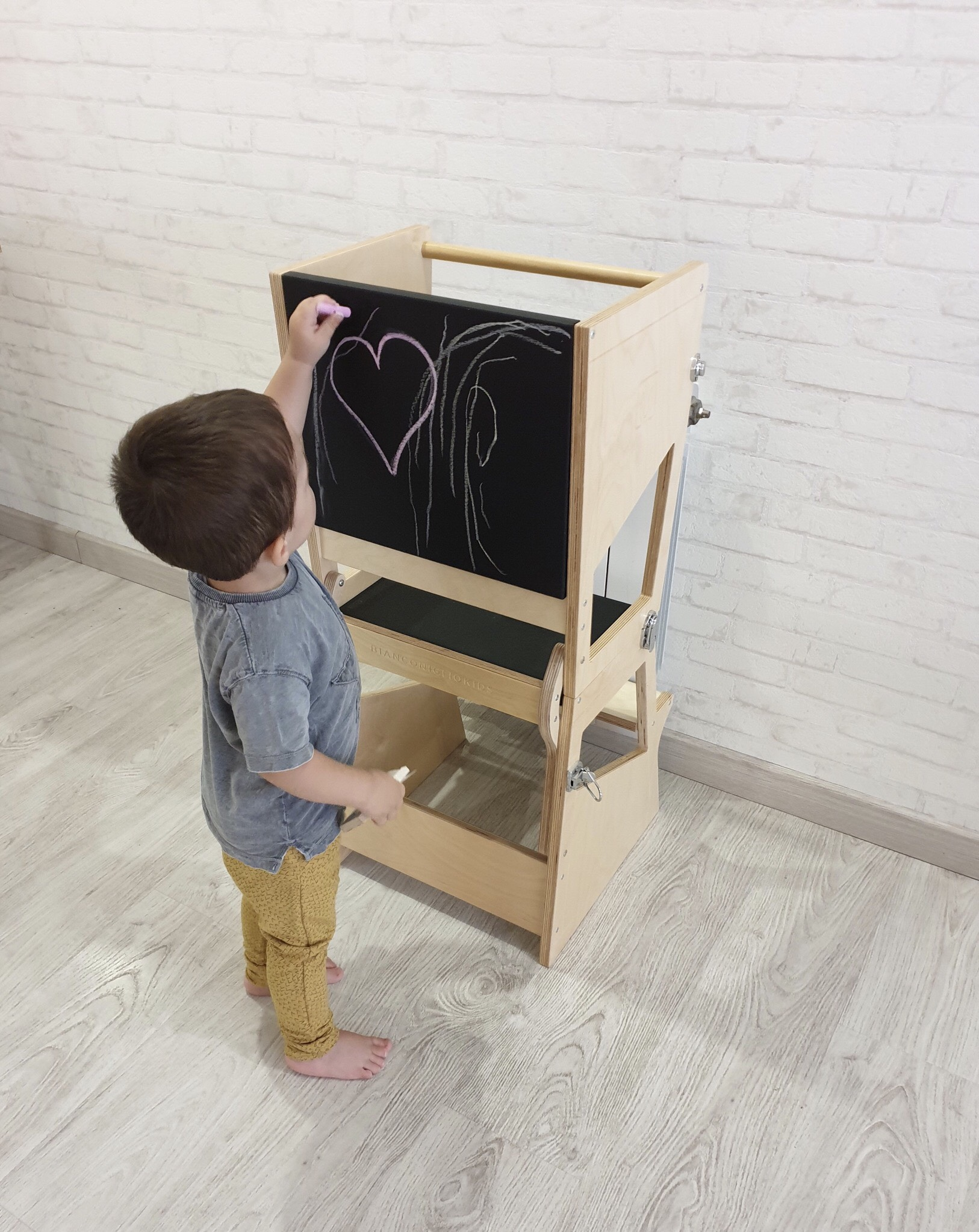 Learning Tower Transformer Transparent blackboard heart