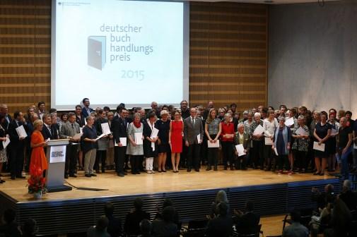 Buchhandlungspreis-Podium © Bundesregierung/Orlowski