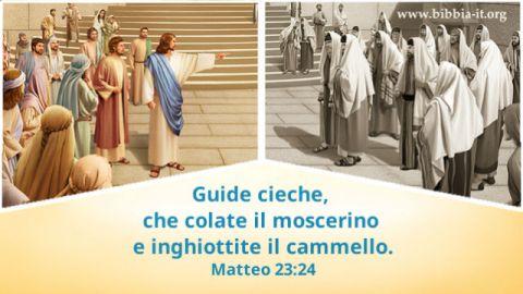 Il Signore Gesu' parlare con i Farisei