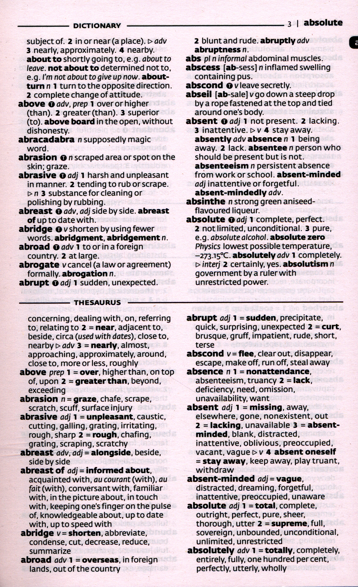 Collins English Dictionary Amp Thesaurus By Collins