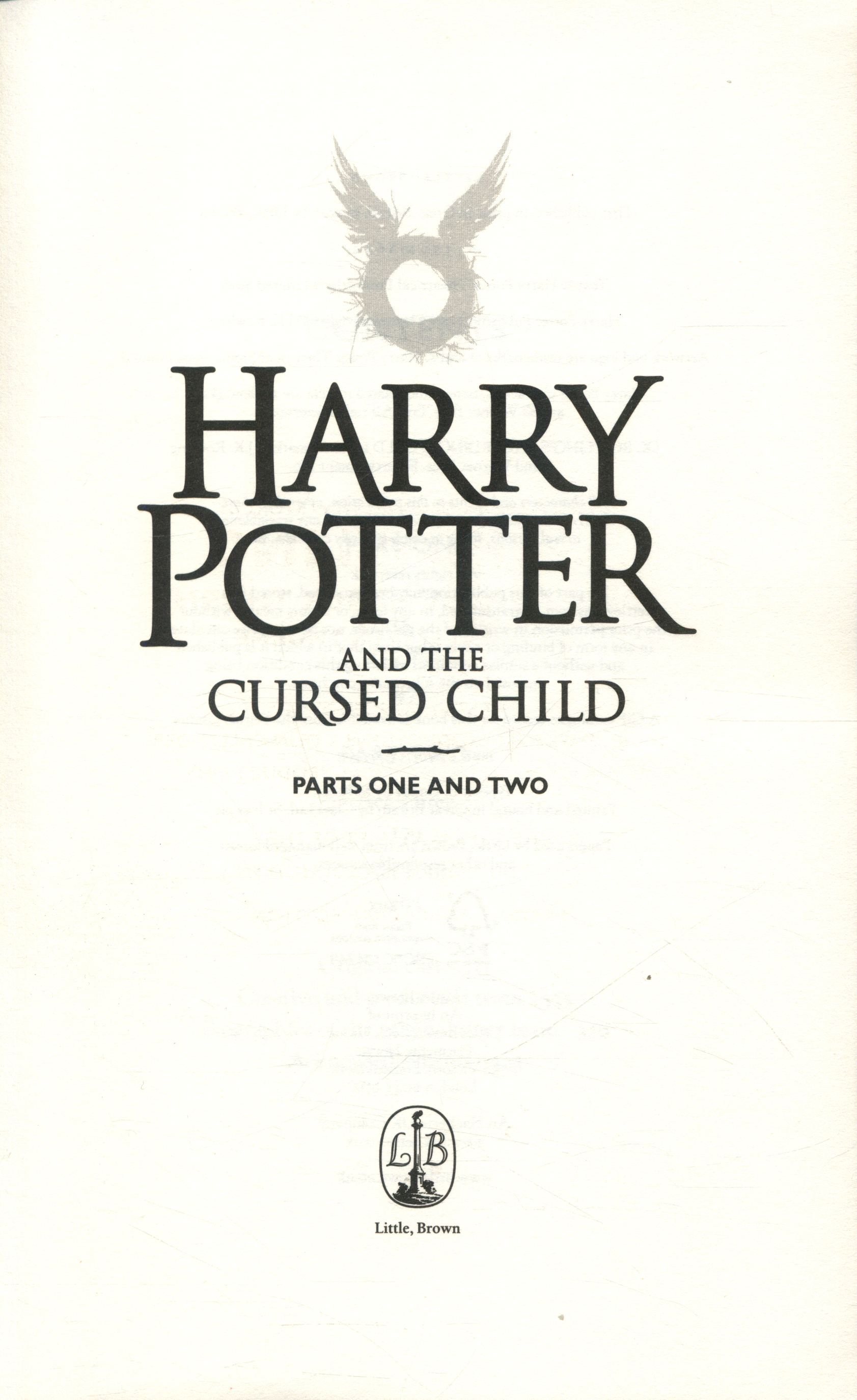 Harry Potter And The Cursed Child Parts One And Two By