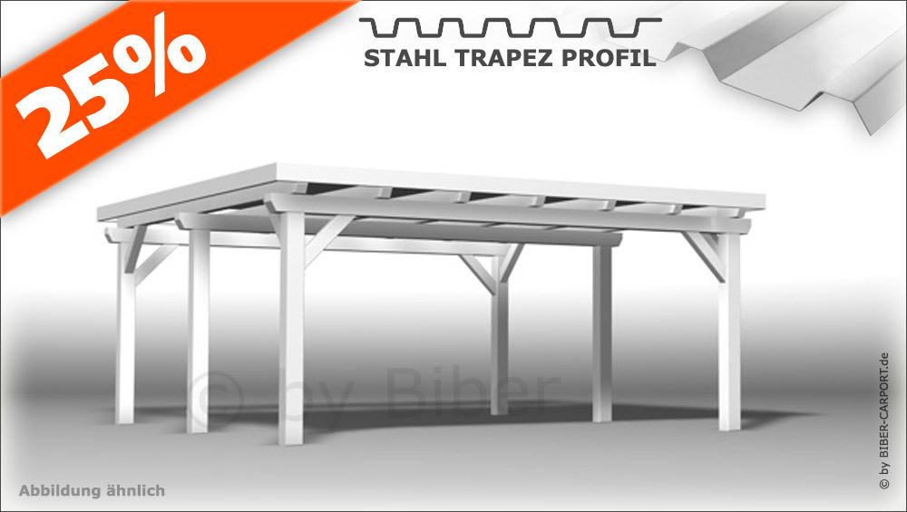 Bausatz 50 X 55m Pultdach Carport Mit Stahl Trapez