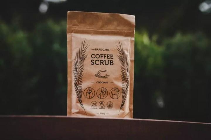 Kávový peeling s kokosom