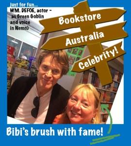 author Bibi Belford bookstore visit brush with fame in Australia