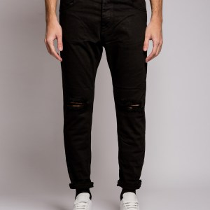 WHY NOT - Jeans rotture sfrangiato nero