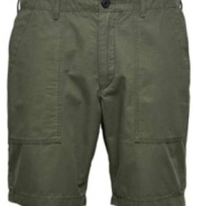 SELECTED - Short in cotone verde