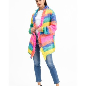 SUSY MIX - Cardigan Multicolor Frange