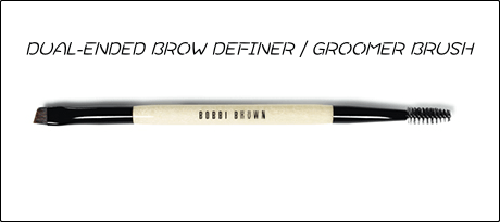 DUAL-ENDED BROW DEFINER/GROOMER BRUSH