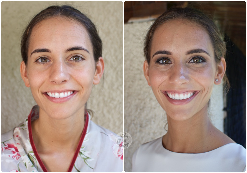 Novia Ana , maquillaje antes/despues - Bobbi Brown