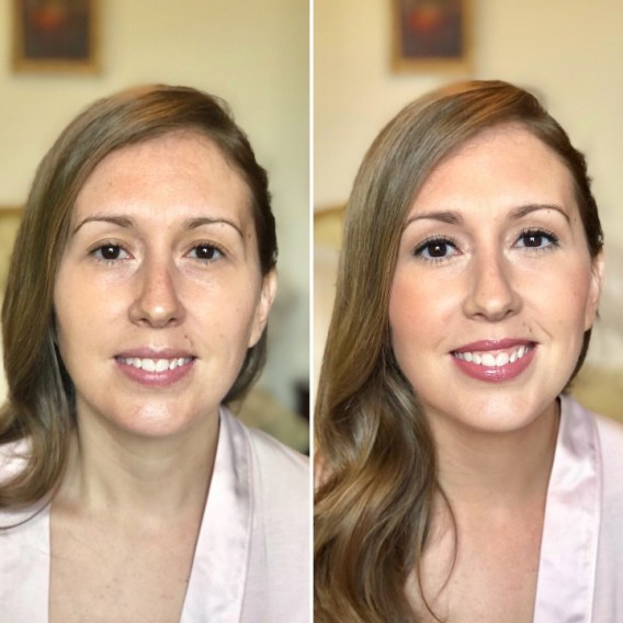 Novia Yvette - Antes y después productos Bobbi Brown