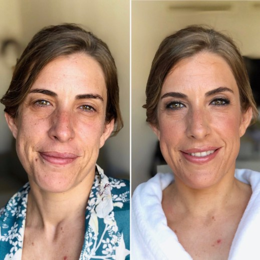 Antes/después hermana de Mercedes- Bobbi Brown