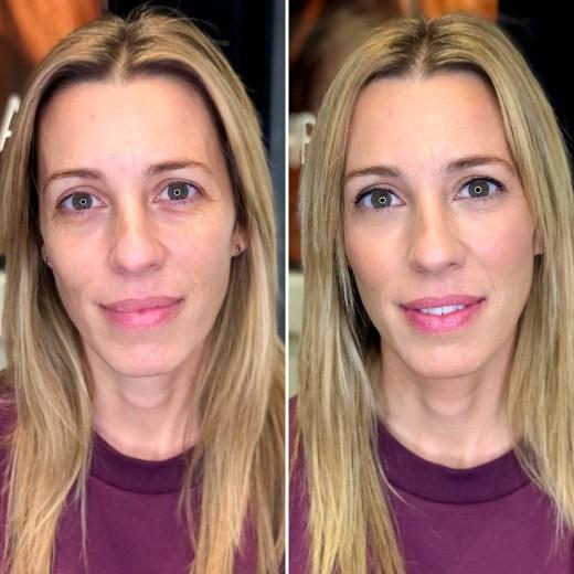 Maquillaje Antes/Después a Belen - Studio Bobbi Brown