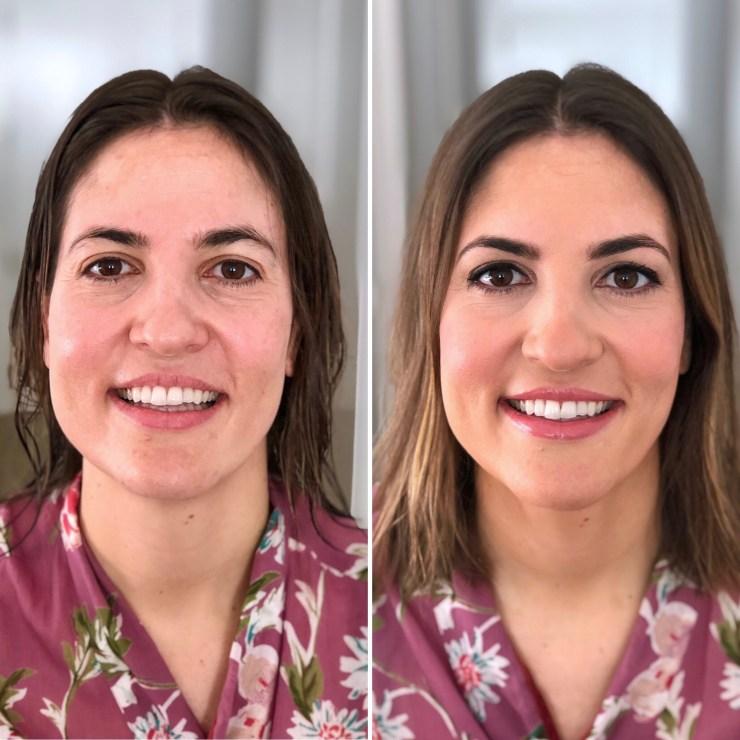 Antes y después a Leticia - Bobbi Brown