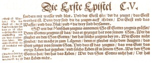 1 John 5 in the edition of 1545
