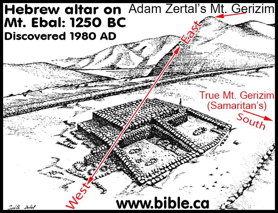 Image result for mount ebal footprint altar