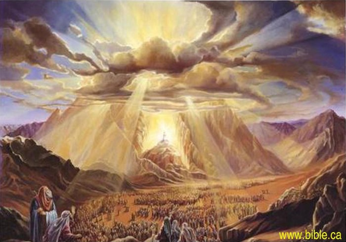 Image result for moses on mt sinai