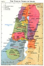 map of Israel showing Ammon, Moab, and Seir