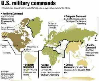 US Global Military Commands