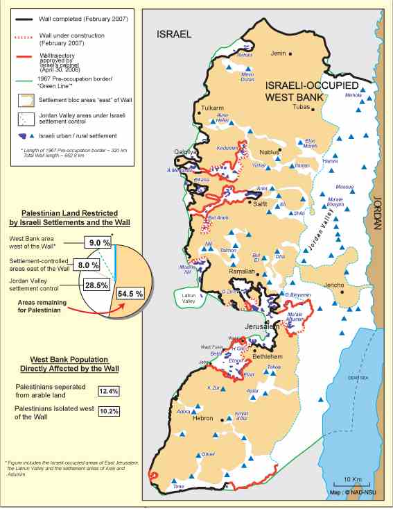 Israel's wall of shame, 2007