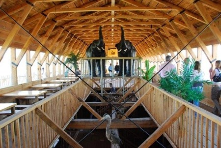Visitors can pay $7 to tour the ark replica