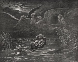 The Child Moses on the Nile - Gustave Dore