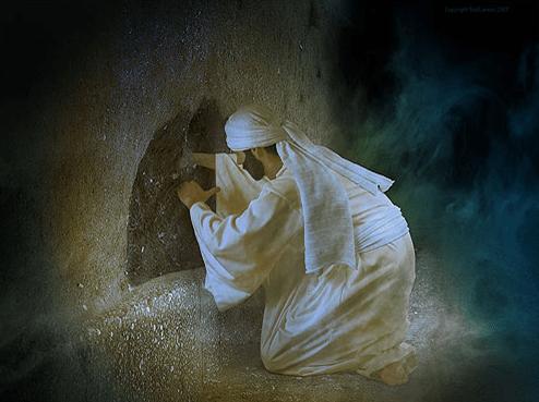 Ezekiel digs hole in wall