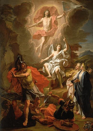 Jesus raises from the dead