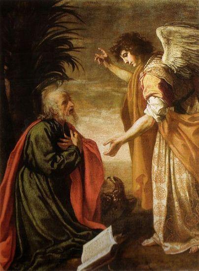 John worships the angel - Artist Unknown