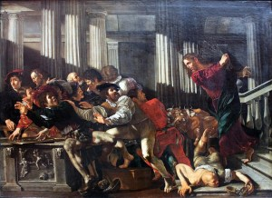 Christ driving the money-changers from the Temple - Cecco del Caravaggio (1610)