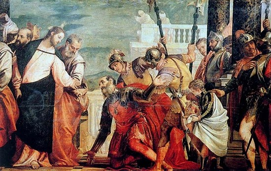 Christ and the Centurion - Paolo Veronese, ca. 1575