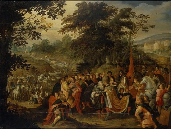 Meeting of Esau and Jacob (Francken, Frans II 1620's)