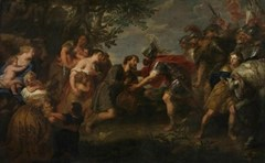 Jan van den Hoecke - Jacob and Esau are reconciled