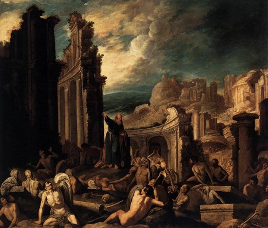 The Vision of Ezekiel by Francisco Collantes (1630)