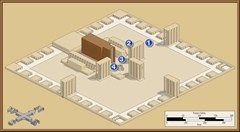 The route God took Ezekiel through the Great Temple