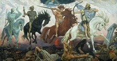 Four Horsemen of the Apocalypse - Death, Famine, War and Conquest - Viktor Vasnetsov (1887)
