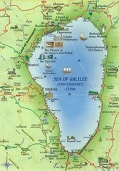 Sea of Galilee tourist map